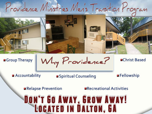 Benefits of Men's Transition Program by Providence Ministries